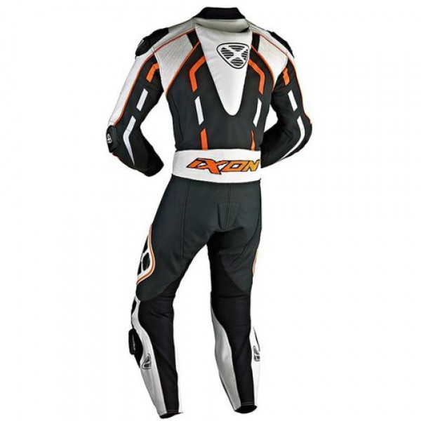 Ixon Pulsar Air summer motorcycle Leather Suit Black White Orange