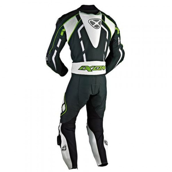 Ixon Pulsar Air summer motorcycle Leather Suit Black White Green