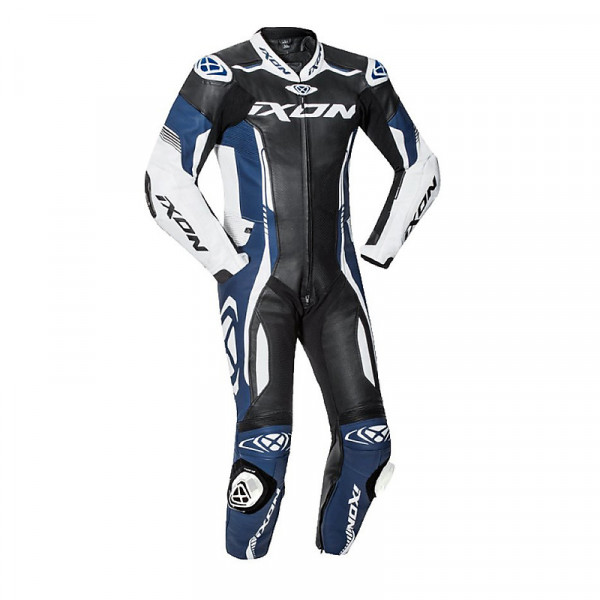 Ixon VORTEX 2 summer leather suit Black White Blue