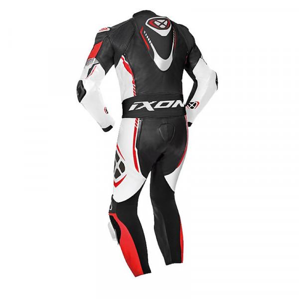 Ixon VORTEX 2 summer leather suit Black White Red