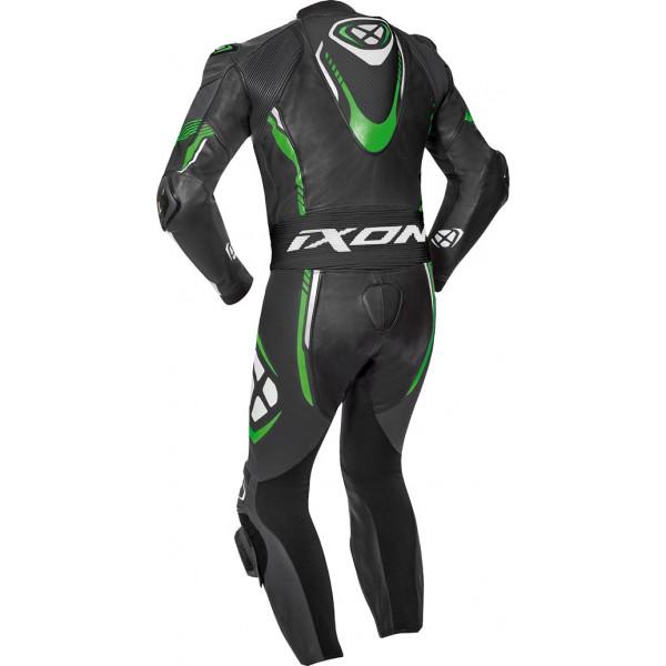 Ixon VORTEX 2 summer leather suit Black White Green