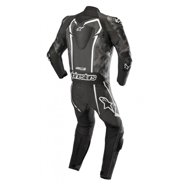 Alpinestars GP PLUS CAMO Tuta moto leather intera black camo white