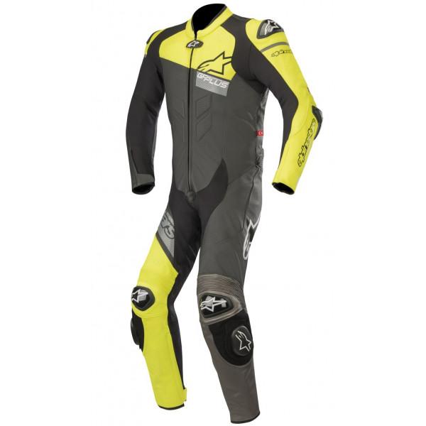 Alpinestars GP PLUS VENOM leather full suit black yellow fluo gray