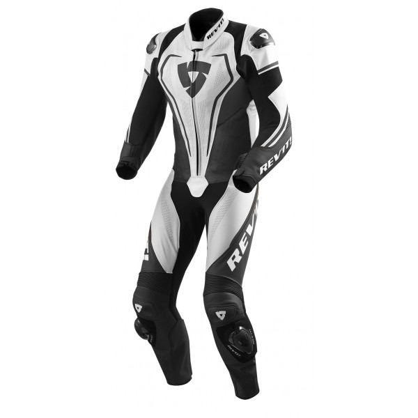 Rev'it Vertex Pro leather summer full suit White Black