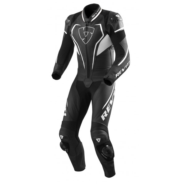 Rev'it Vertex Pro leather summer full suit Black White