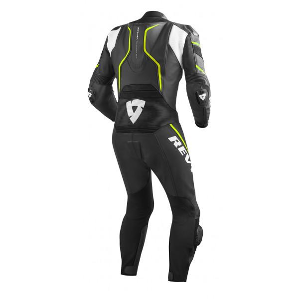 Rev'it Vertex Pro leather  summer full suit Black Yellow Neon