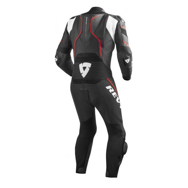 Rev'it Vertex Pro leather summer full suit Black Red