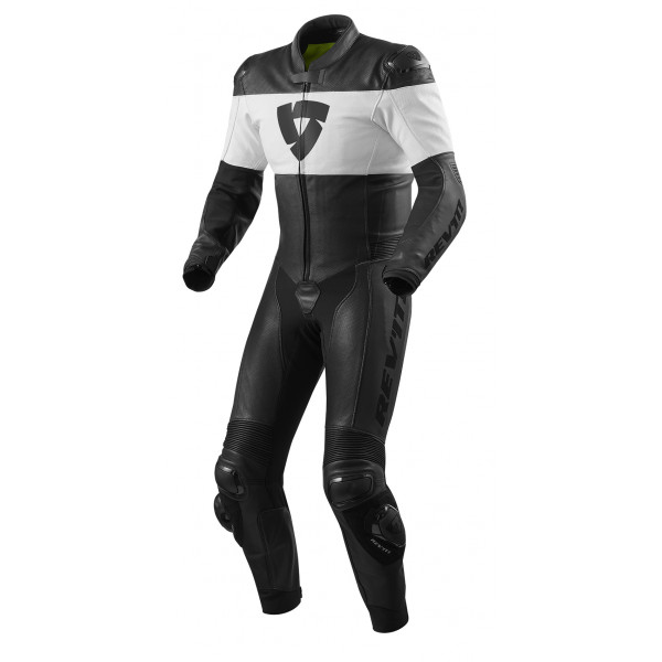 Rev'it Nova leather full suit Black white