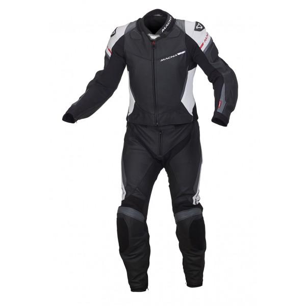 Macna leather suit Hyper 2pc black white grey