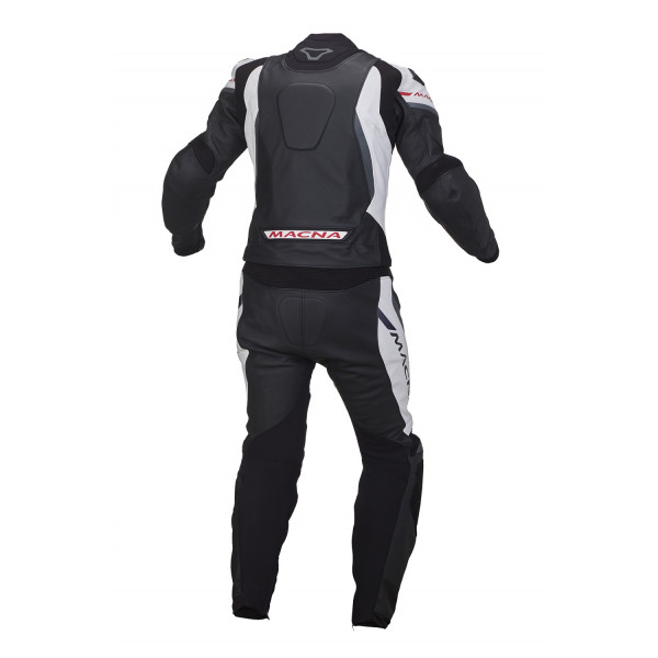 Macna leather suit Hyper 2pc black white grey