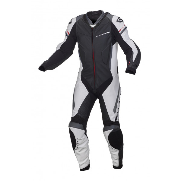 Macna leather suit Hyper black white grey