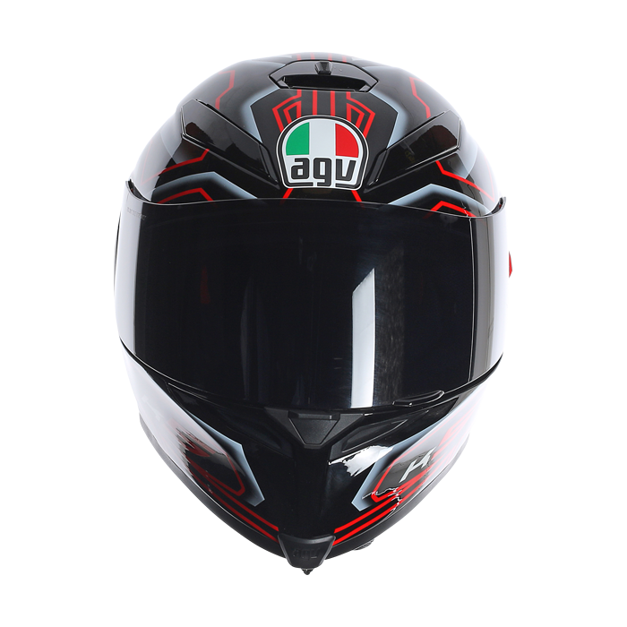 AGV K5 Deep full face helmet Black White RED 606ebec4d