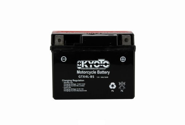 Kyoto battery Ytx4l-bs X8 - 12v 3ah - L 114mm W 71mm H 86mm - with acid no maintenance