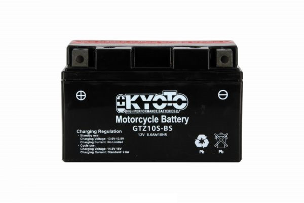 Kyoto battery Ytz10s-bs X4 - 12v 8.6ah - L 150mm W 87mm H 93mm- with acid no maintenance