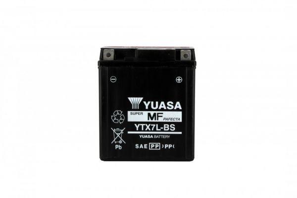Yuasa battery Ytx7l-bs - X6 - 12v 6ah - L 114mm W 71mm H 131mm with acid