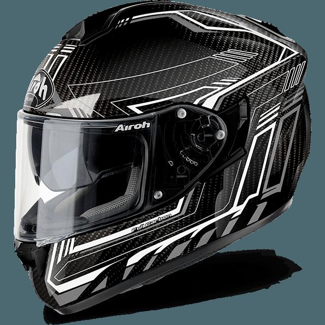 Airoh St 701 Pinlock Included  Safety full carbon full face helmet white gloss