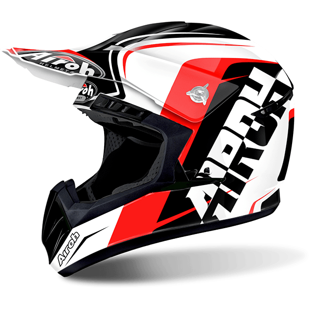 Airoh Switch Sign  off road helmet red gloss