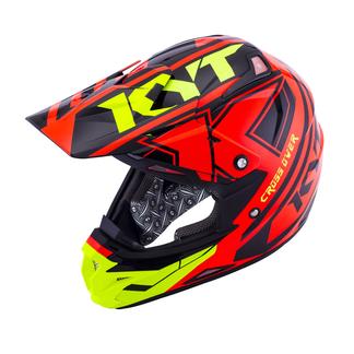 KYT cross helmet Cross Over Ktime red yellow fluo