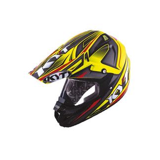 KYT cross helmet Cross Over Power black fluo yellow