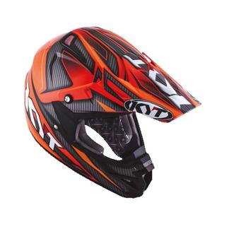 KYT cross helmet Cross Over Power black red