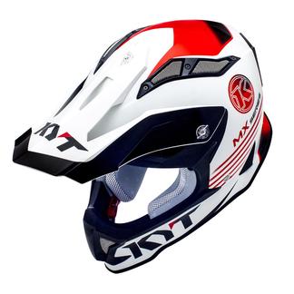 KYT cross helmet Strike Eagle K-MX fiber white red