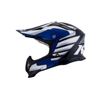 KYT cross helmet Strike Eagle Wings fiber white blue