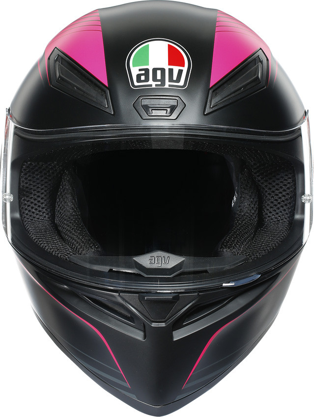 Helmet full face thermoplastic Black Red AGV K1 WARMUP  011 US