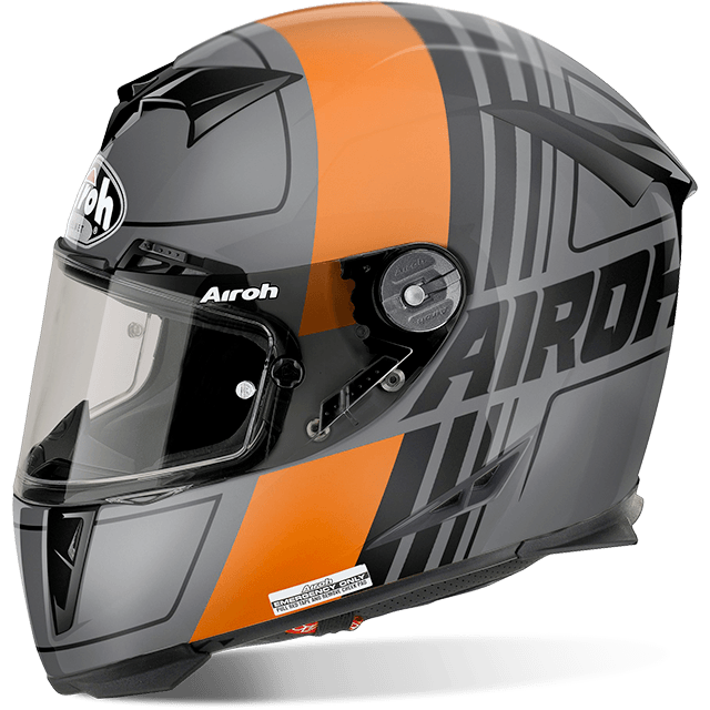 Airoh Gp 500 Fs Pinlock Scrape  full face helmet orange matt