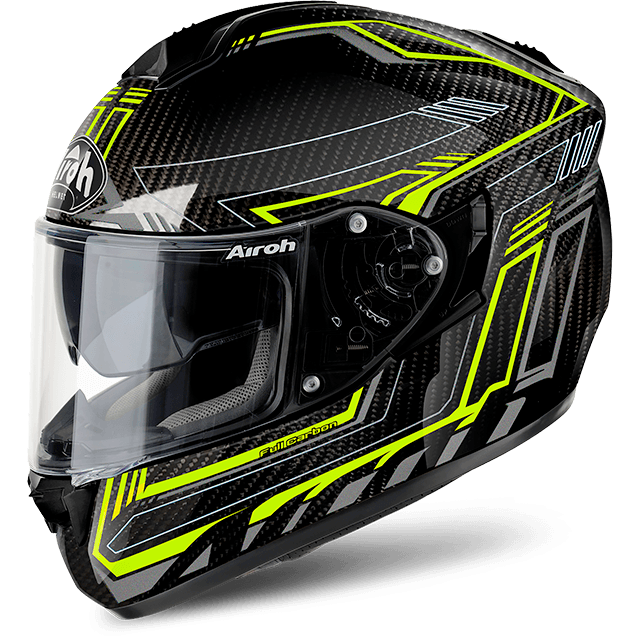 Airoh St 701 Pinlock Included  Safety full carbon full face helmet yellow gloss