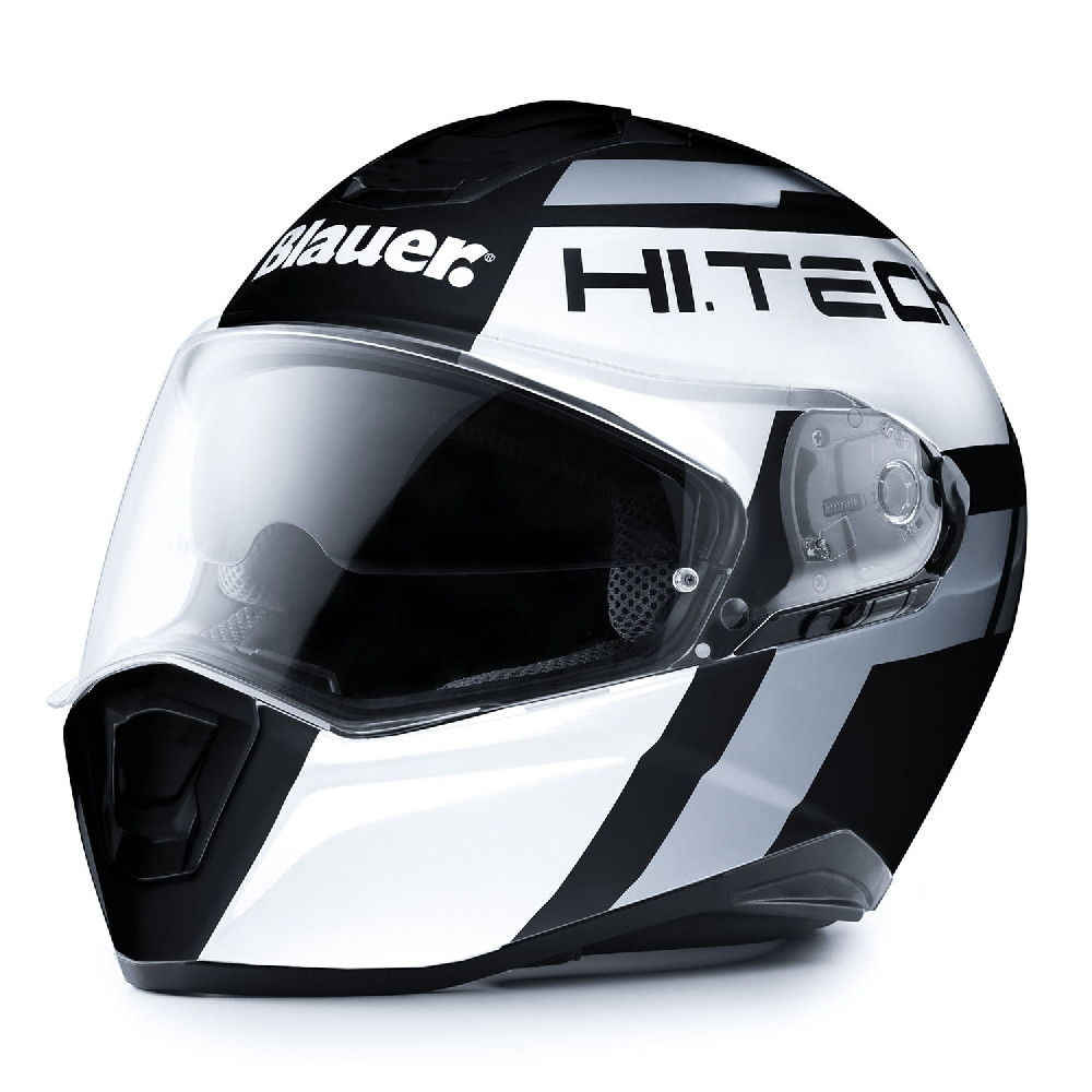 Blauer full face helmet Force One 800 fiber matt black white anthracite