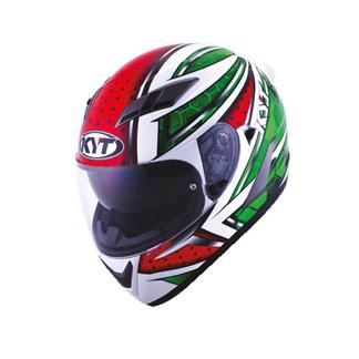 KYT full face helmet Falcon All Stars red green
