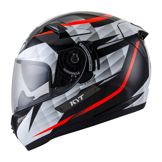 KYT Full Face Helmet Venom Diamond Black White