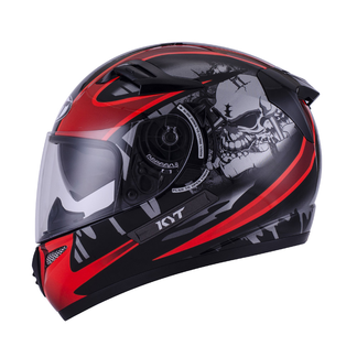 KYT Full Face Helmet Venom Strike Black Red Fluo