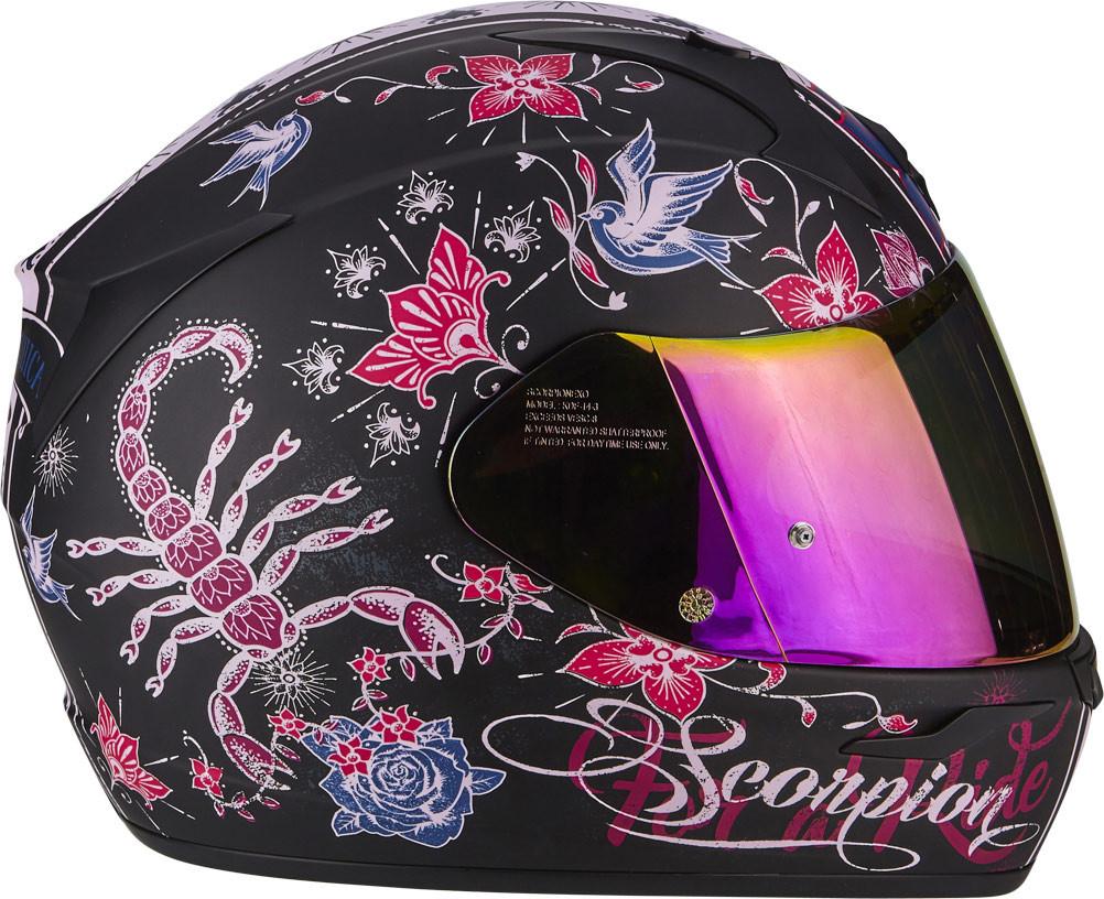 cc7eae66 Scorpion EXO 390 CHICA full face helmet matt Black Pink