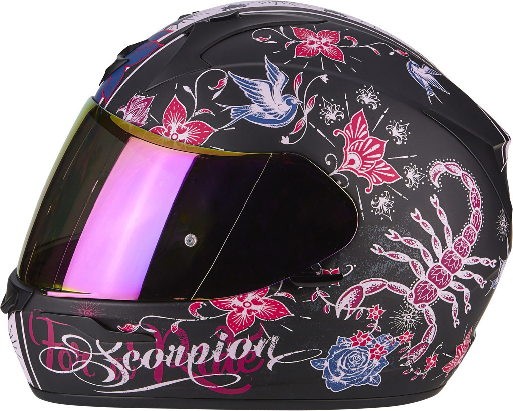 Scorpion Exo 390 Chica Full Face Helmet Matt Black Pink