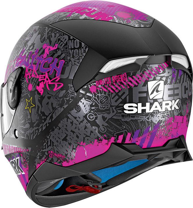 9e29898e Shark SKWAL 2 SWITCH RIDER 2 Mat Full Face helmet Matt Black Violet Violet