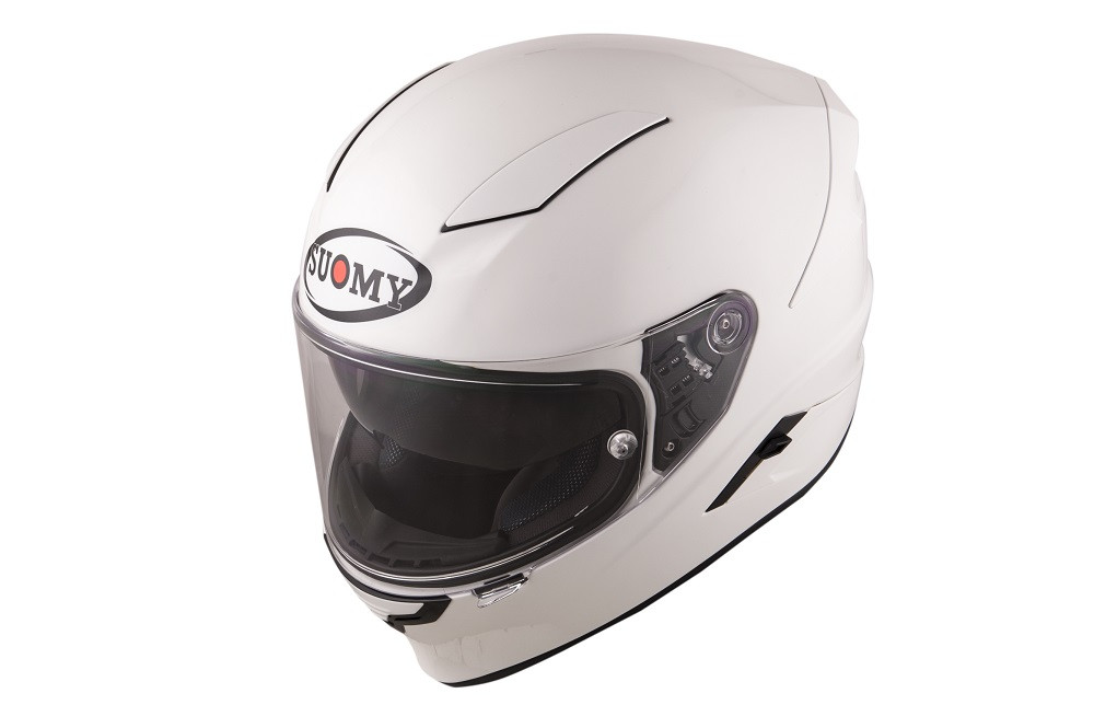 NEW CASCO INTEGRALE SUOMY SPEEDSTAR SPORT TOURING TRICARBOCO PLAIN WHITE