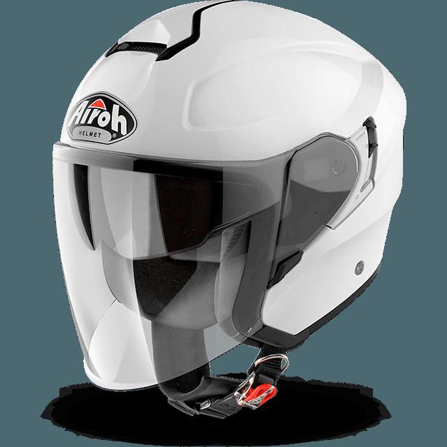 Airoh Hunter Pinlock Ready  Color  jet helmet white gloss