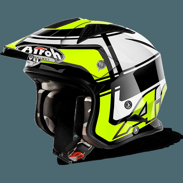 Airoh Trr S Wintage  jet helmet yellow gloss