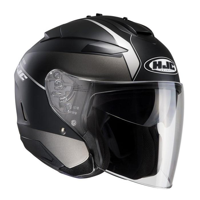 HJC IS-33 II Niro MC5SF jet helmet black gray
