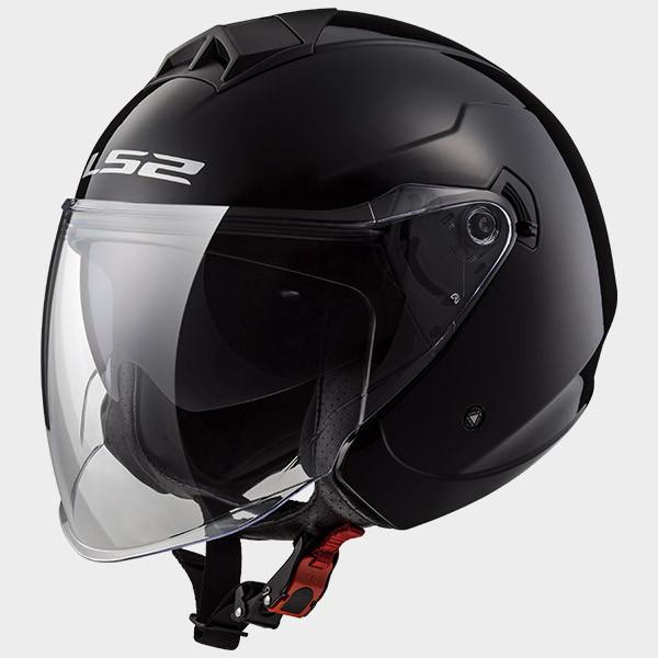 LS2 OF573 Twister jet helmet double visor black