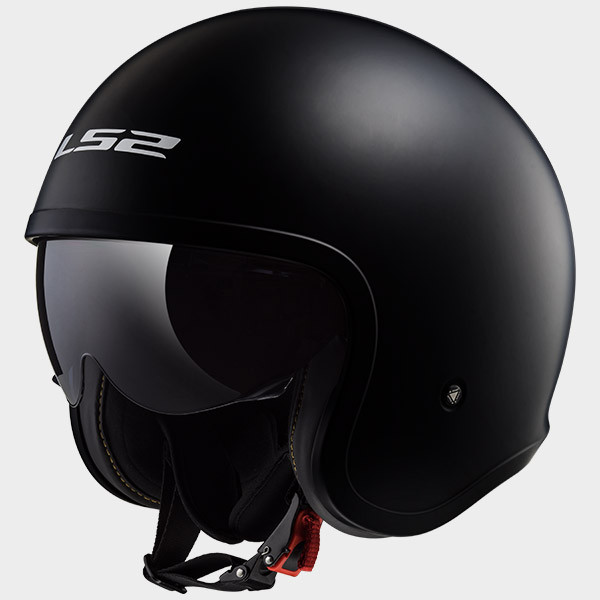 LS2 OF599 Spitfire jet helmet black