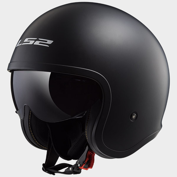 LS2 OF599 Spitfire jet helmet matt black