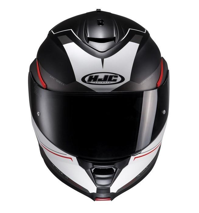 272999394ef32 HJC IS-MAX II Magma MC1SF modular helmet black white red