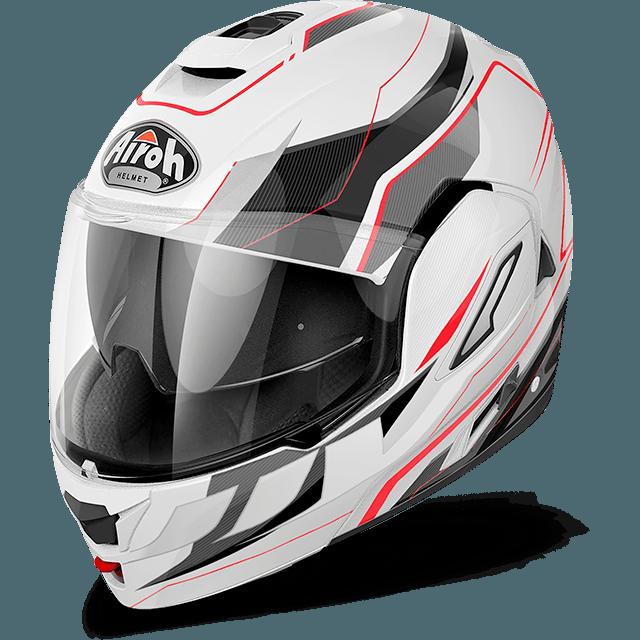 Airoh Rev Antifog Visor  Revolution  flip up helmet white gloss