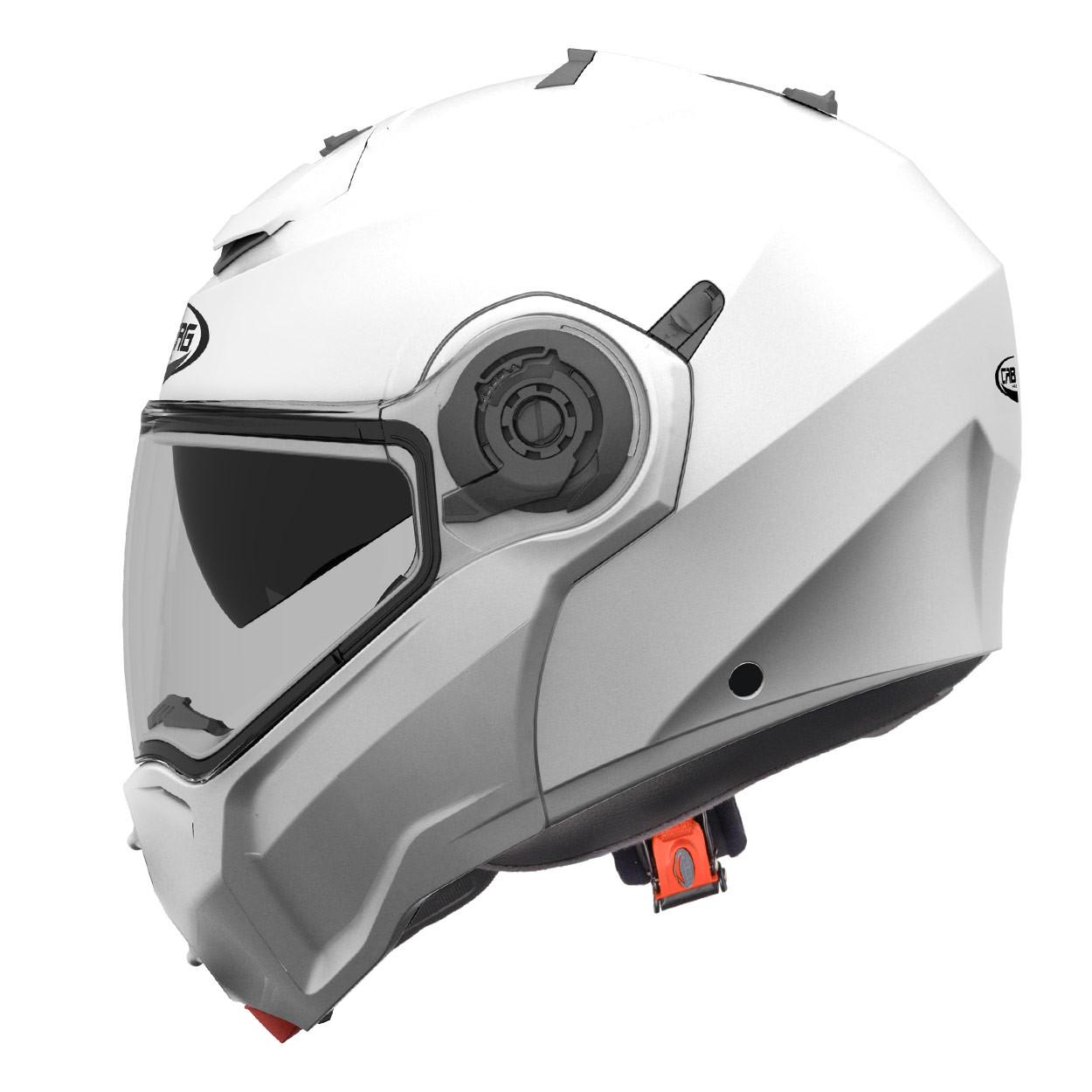 6bfbee92 Caberg Droid flip up helmet metal white