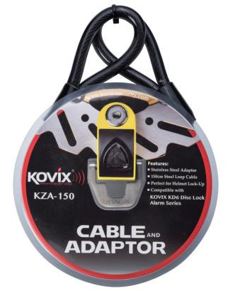 Kovix steel cable KZI 1.5m with adapter for KAL6 brake lock