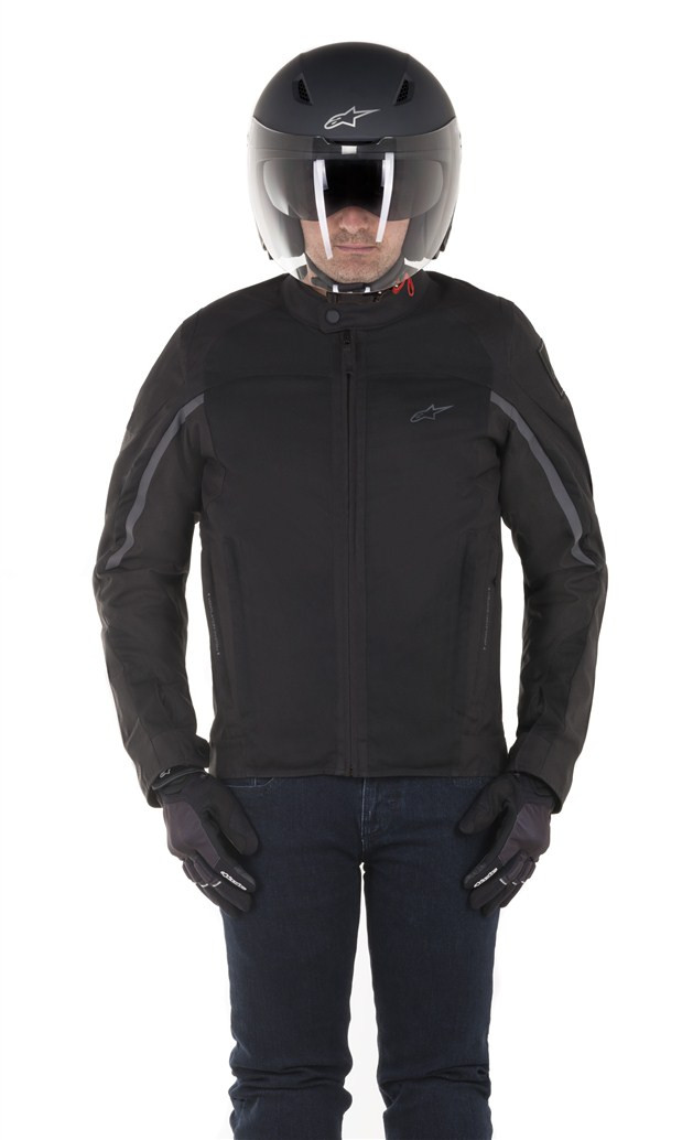 Alpinestars Motorcycle Jacket >> Alpinestars Spartan Motorcycle Jacket Black Black