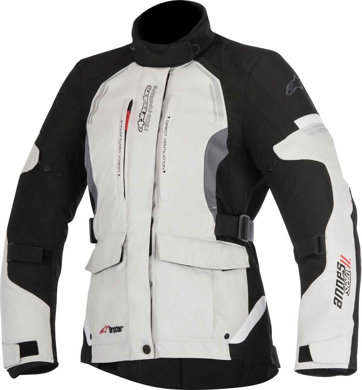 7731e378 Alpinestars STELLA ANDES V2 DRYSTAR jacket light grey black dark grey