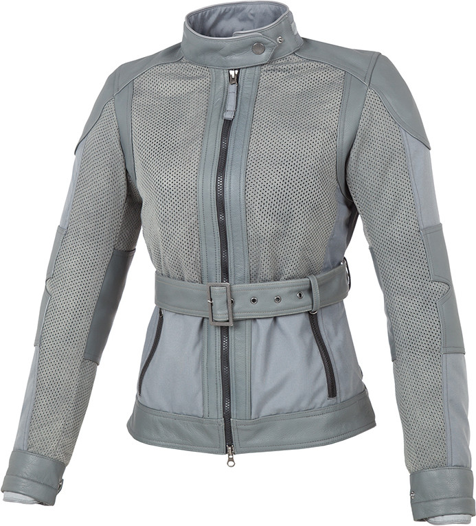 Tucano Urbano Selvaggia grey women summer jacket with leather inserts